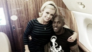 Katherine Jenkins and Donald Driver