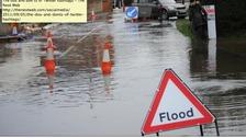 Flooding at Twyford