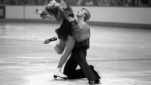 Torvill and Dean during their medal-winning performance in 1984