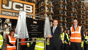 JCB chief executive Graeme Macdonald officially opened the warehouse today