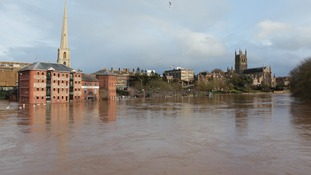 The River Severn seen from Worcester Bridge