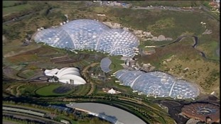 Aerial of Eden Project