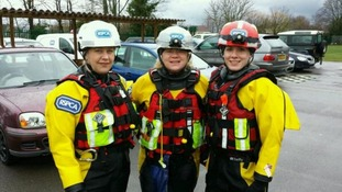 RSPCA rescue workers in Wraysbury, Berkshire