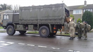 Army deploying sandbags in Reading