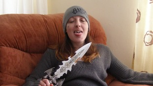 Joanna Dennehy - posing with knife while on the run