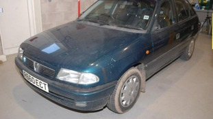 A Vauxhall Astra used by Joanna Dennehy while she was on the run