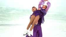 Torvill and Dean performing the bolero