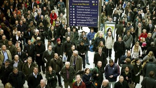 Commuters at Liverpool Street Station
