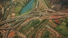 The iconic Spaghetti Junction, which celebrates 40 years today