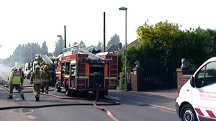 ine fire appliances were called to Gurney Road, New Costessey