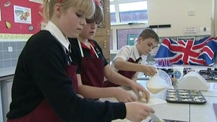 Latimer Arts College near Kettering came top of the class for making good use of local produce