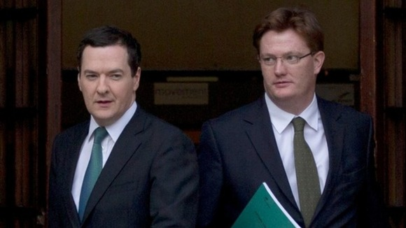 Danny Alexander (right) with Chancellor George Osborne. Credit