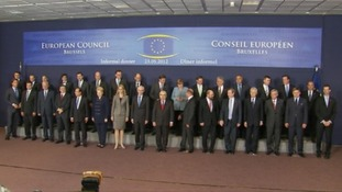 EU leaders line up ahead of talks aimed at working out how to tackle Greece's financial crisis