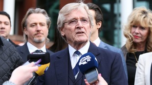 Coronation Street actor William Roache speaks to the media outside Preston Crown Court after his acquittal