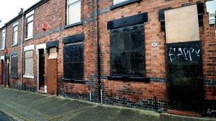 The houses in Cobridge, Stoke, before they were sold for £1