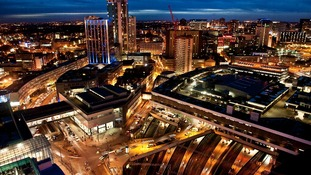 Birmingham at night, as seen from The Rotunda