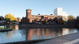 The canals near Brindleyplace, Birmingham