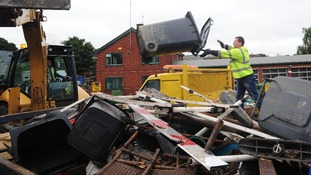 The clean up in Morpeth after the floods in September 2008.
