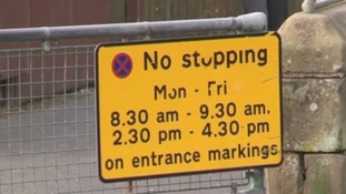 Signs on the schoolgates further try to deter drivers from parking inappropriately.