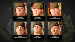 Pte Chris kershaw and his 5 colleagues