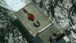 Royal Navy crew send Valentine's message home