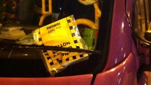 UKIP bus with parking ticket
