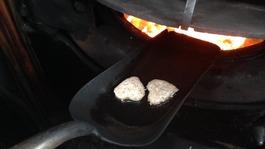Cooking Valentine's breakfast in a steam engine!