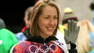 Britain's Lizzy Yarnold competing in the women's skeleton at the Sochi Winter Olympics