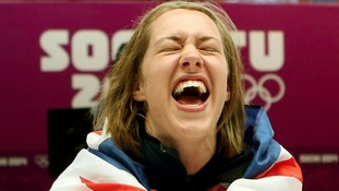 Lizzy Yarnold has won gold at the women's skeleton event in Sochi