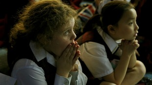 Some of the pupils at St Michael's School could barely watch as Ms Yarnold came close to the moment of truth