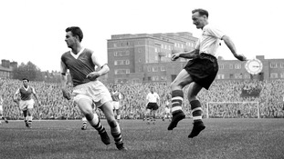 Tom Finney on the attack for Preston