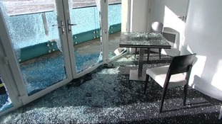 Shingle broke through the windows before the waves washed into the restaurant.