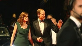 Prince William arrives at the red carpet of this year's Bafta awards.