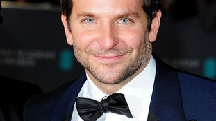 Bradley Cooper on the red carpet of the Bafta awards.