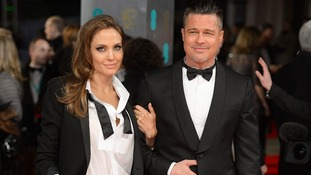 Angleina Jolie and Brad Pitt on the red carpet of the Bafta awards.