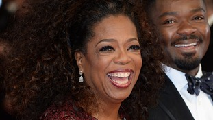Oprah Winfrey on the red carpet of the Bafta awards.