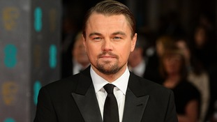 Leonardo DiCaprio at the Bafta awards.