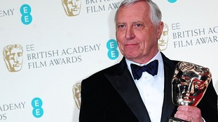 Film director Peter Greenaway awarded for his Outstanding British Contribution to Cinema at the Bafta Awards.