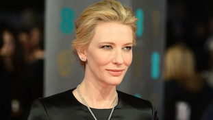 Australian actress Cate Blanchett wins Best Leading Actress for her performance in Blue Jasmine at the Bafta Awards.