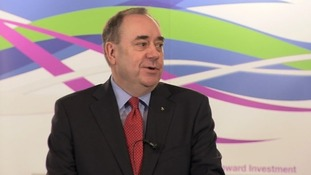 Alex Salmond speaking to business leaders today.