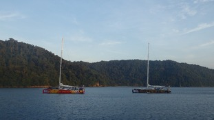 The Clipper boats arrive at Kota Kinabalu