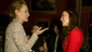 Actress Uma Thurman and the Duchess of Cambridge.c