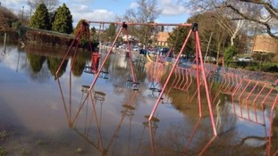 A park under water in Stourport