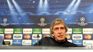 Manuel Pellegrini at press conference