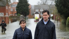Ed Miliband in Somerset today to discuss flood insurance