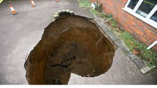 A 30ft-deep sinkhole opened up High Wycombe.