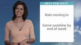 ITV Meridian Weather this Wednesday