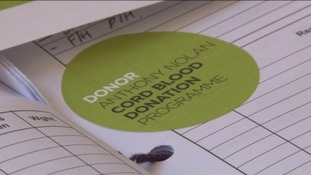 Cord blood donation sticker