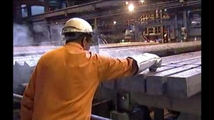 Steelworker at work