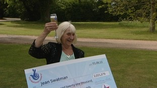 Jean won the lottery last year.
